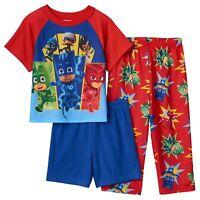 PJ Masks Toddler Boy's 3 Pc Pajama Set   Size  2T NWT   Red &  Blue
