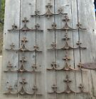 NINE Beautiful Vintage Gothic Cross Cast Iron Fence Toppers Finial Deadwood
