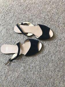 Faith Flat Suede Sandals Size 6