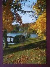 POSTCARD WILTSHIRE STOURHEAD - AUTUMN VIEW ACROSS THE LAKE