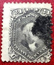 1862 US SC#78 24c Gray Washington Heavy Used