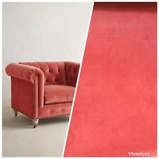 New listing Designer Velvet Upholstery Fabric - Soft Coral- By The Yard