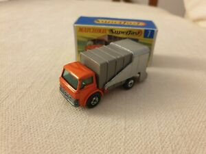 Matchbox Transitional Superfast No 7 Ford refuse Truck repro box