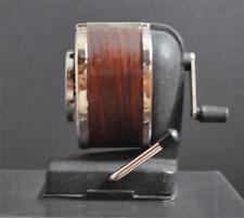 "Vintage Boston Desk Table Top Hand Crank Pencil Sharpener 8 Hole 5 1/4"""
