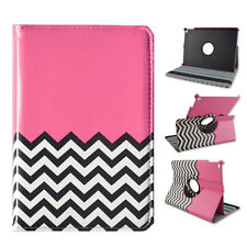 360 Rotating Leather Cover Case for iPad mini 1 2 3 Pink