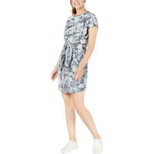 Ideology Womens Tie-Dye Tie Front Mini Dress BHFO 7286