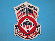 Vintage OFFICIAL UMPIRE Slo Pitch Softball Arm Sleeve Sew On Patch USSSA