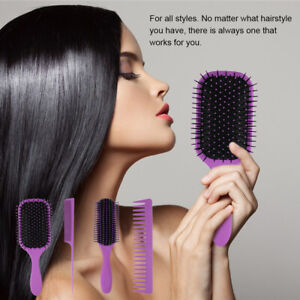 Anti-static Hair Extension Cushion Brush Scalp Massage Paddle Comb Styling T5W7