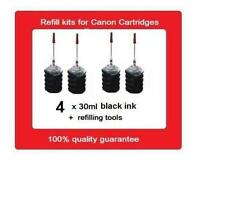 4x Refill Kits For Canon PG-645, PG645, PG-645xl ink Cartridges MG2460 MG2560