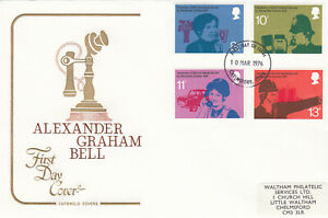 (41079) GB Cotswold FDC Telephone Alexander Graham Bell Chelmsford 1976