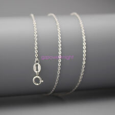 """Genuine 925 Sterling Silver Curb Chain Necklace 16"""" Inches Stamped Italy Gift"""