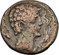 Seteisken in Iberia Spain 143BC Dolphins Horseman Ancient Greek Coin i46402