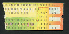 1980 Talking Heads Psychedelic Furs Concert Ticket Stub Passaic Remain In Light