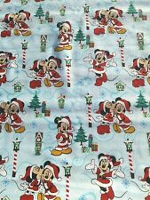 Mickey Minnie Mouse Christmas LOVE Cotton Fabric~Disney~By Fat Quarter FQ 18x21