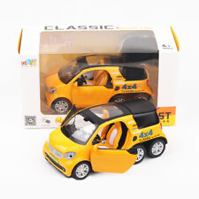 1:24 Benz Smart Fortwo Pickup Car Model Metal Diecast Toy Vehicle Yellow Gift