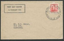 NEW ZEALAND 1944 GVI 1½d red - commem FDC .  ACS cat NZ$75.................64769