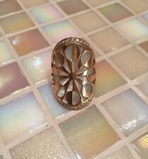 bvlgari intarsio mother of pearl and pave diamond 18kt rose gold ring