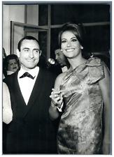 Pierre Étaix et Claudine Auger au Festival de Cannes  Vintage silver print Tir