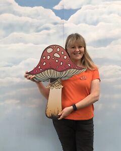 Giant MDF Mushroom Toadstool Magic Fairy Halloween Decoration Prop HW WL ET