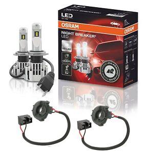OSRAM NIGHT BREAKER H7 LED 220% Set für VW Golf 7 5G mit Adapter 64210DWNB DA05