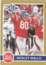 WESLEY WALLS 1991 Hoby card #280 Ole Miss Mississippi Rebels Football EX+