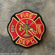 Red & Gold Fire Dept. Maltese Cross Patch