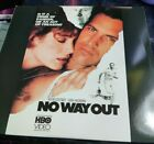 HBO Video No Way Out Laservideo Disc