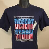Vintage Operation Desert Storm T Shirt Men L 90s Gulf War US Military Usa Tee