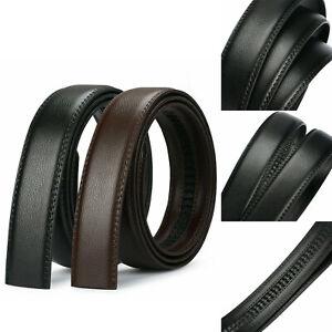 Men's Leather Belt Automatic Buckle Belt Replacement Strap No Buckle 105-130cm