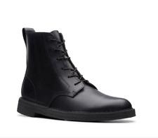 Clarks ORIGINALS Mens Desert Mali Boots Black Leather - Size 9.5 UK