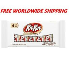 Kit Kat White Chocolate Crispy Wafer Bars 6 Full Size Bars FREE WORLD SHIPPING