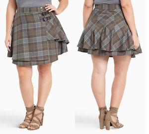 Torrid Outlander Claire Jamie Fraser Plaid Tartan Skirt Kilt Womens Plus Sz 16W