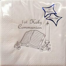 1st First Holy Communion Luxury 3 Ply Party Table Napkins Serviettes - White
