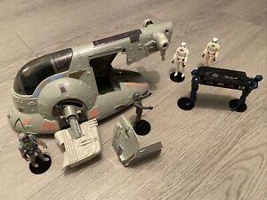 Vintage Star Wars Boba Fett Slave 1 * 1981 Kenner & 5 Figs & carbon chamber