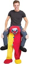 Mens Ladies Step in Ride On Horror Clown Halloween Fancy Dress Costume Outfit