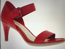 Sylish red sandals from Ecco with 4 in leather covered heel  size 6