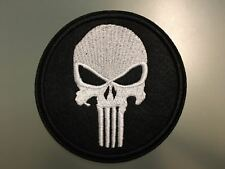 """PUNISHER SKULL Patch - Embroidered Iron On Patch 3 """" USA"""
