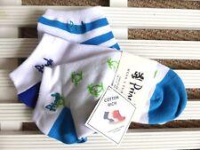 3 x UNISEX PRINGLE Cotton Rich Trainer Socks UK foot 7-11, Navy Sky Blue White
