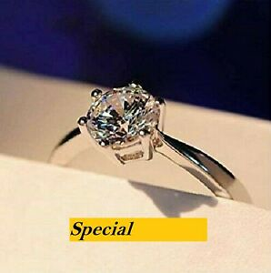 **SELL-OUT!!** £3.50 - Diamond Solitaire Engagement Ring 9ct 18ct White Gold FN