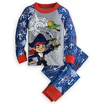 Disney Store Captain Jake Skully Neverland Pirates Pajamas Boys size 3