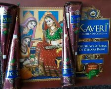 Fresco e naturale Kaveri Henné Mehndi Tatuaggio cono più oscuri colore marrone