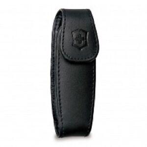 Victorinox Medium Clip Pouch Black Leather 33255