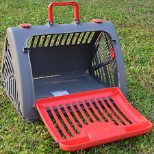 Portable Pet Crate Collapsible Travel Cat Dog Carrier Cage Large Gate Front Door