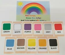 Colours Flash Cards Set - Educational Learning Picture & Word Card Pack