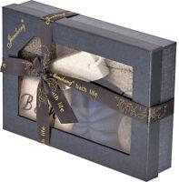 5 Piece Bathroom Pamper Spa Gift Set Foot Exfoliator Pumice Stone Bath Sponge