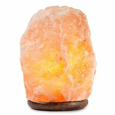 HemingWeigh Natural Himalayan Rock Salt Lamp 19-25 lbs with Wood Base