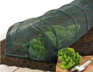 New 2 X Grow Tunnel 3m Net Garden Cloche Plant Vegetable Protection Ground Cover