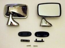 Stainless Steel Door Mirrors MGB Triumph TR4-6 MG GAM258X GAM259X PAIR!!