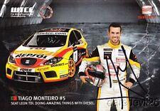2008 Tiago Monteiro signed Seat Leon TDI Diesel WTCC postcard