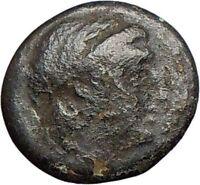 Myrina in Asia Minor  Ancient Greek Coin Apollo Amphora Lyre  i27575